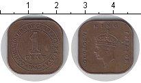Изображение Мелочь Малайя 1 цент 1945 Медь XF
