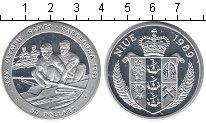 Изображение Монеты Ниуэ 50 долларов 1989 Серебро Proof Олимпиада-1992 в Бар