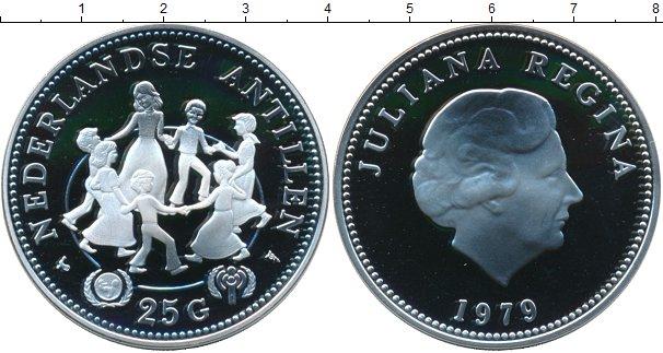 Картинка Монеты Антильские острова 25 гульденов Серебро 1979