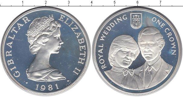 Картинка Монеты Гибралтар 1 крона Серебро 1981