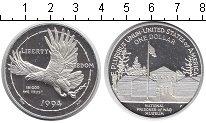 Изображение Мелочь США 1 доллар 1994 Серебро Proof- Национальный музей в