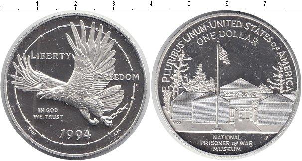 Картинка Мелочь США 1 доллар Серебро 1994