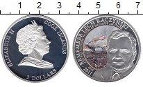 Изображение Монеты Острова Кука 2 доллара 2011 Серебро Proof Памяти Леха Качинско