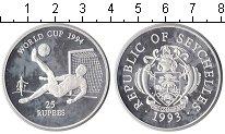 Изображение Монеты Сейшелы 25 рупий 1993 Серебро Proof- Чемпионат мира по фу