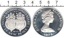 Изображение Монеты Гибралтар 25 пенсов 1972 Серебро Proof-