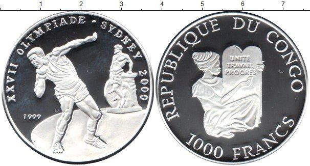 Картинка Монеты Конго 1.000 франков Серебро 1999