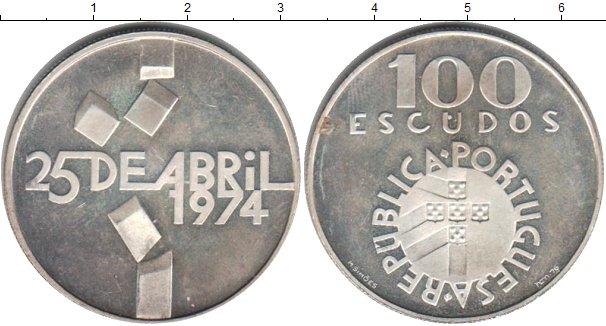 Картинка Монеты Португалия 100 эскудо Серебро 1974