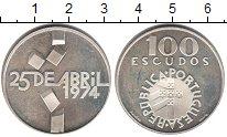 Изображение Монеты Португалия 100 эскудо 1974 Серебро Proof-