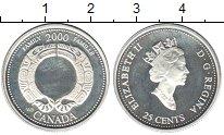 Изображение Монеты Канада 25 центов 2000 Серебро Proof- Елизавета II