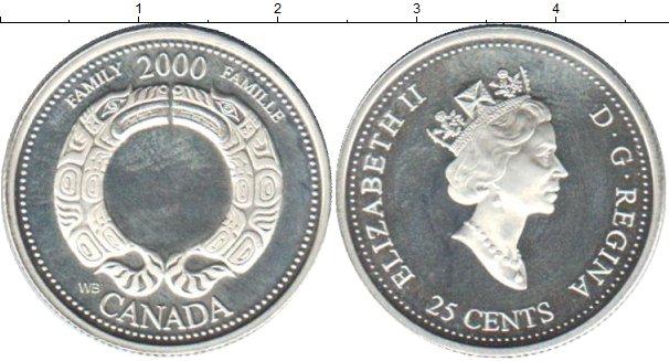 Картинка Монеты Канада 25 центов Серебро 2000