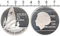 Изображение Монеты Аруба 25 флоринов 1992 Серебро  Парусник