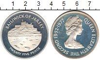 Изображение Монеты Остров Джерси 25 пенсов 1977 Серебро  Выдающиеся личности.