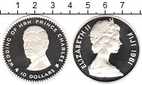 Изображение Монеты Фиджи 10 долларов 1981 Серебро