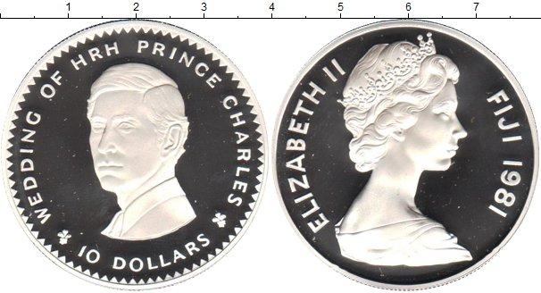 Картинка Монеты Фиджи 10 долларов Серебро 1981