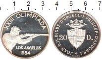 Изображение Монеты Андорра 20 динерс 1984 Серебро Proof-