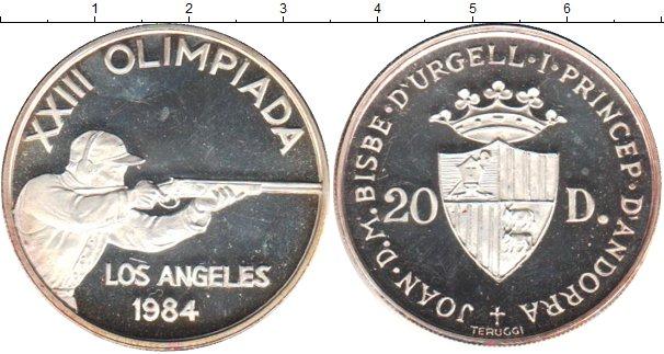 Картинка Монеты Андорра 20 динерс Серебро 1984