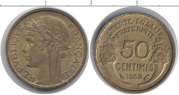 Картинка Мелочь Франция 50 сантим Медь 1939