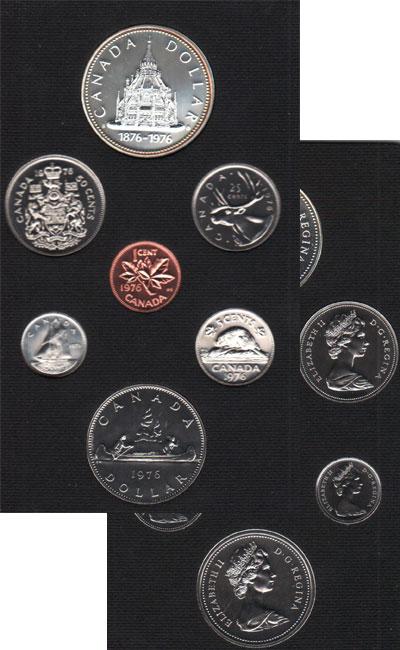 Изображение Подарочные монеты Канада Памятный набор 1976 года 1976  Proof Набор включает в себ