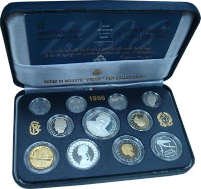 Изображение Подарочные монеты Италия Эудженио Монтале 1996  Proof Подарочный набор 199
