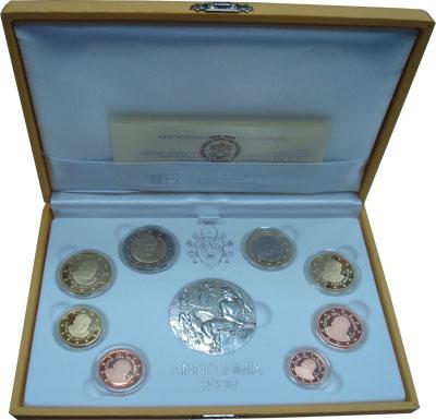 Изображение Подарочные монеты Ватикан 80-летие основания Ватикана 2009  Proof Подарочный набор пос