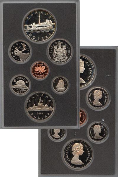 Изображение Подарочные монеты Канада Памятный набор 1984 года 1984  Proof В наборе 7 монет Кан
