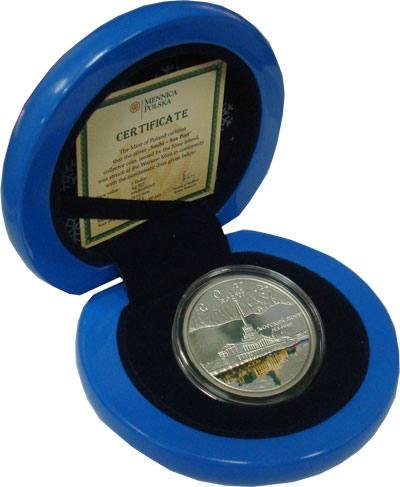 Изображение Подарочные монеты Ниуэ Сочи, Морской торговый порт 2008 Серебро Proof Подарочная монета по