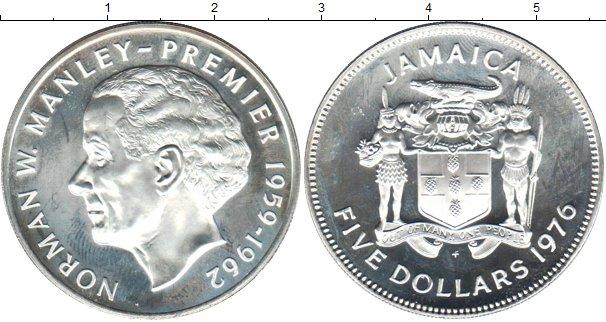 Картинка Монеты Ямайка 5 долларов Серебро 1976