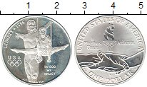 Изображение Монеты США 1 доллар 1995 Серебро Proof- Атланта Гимнастика
