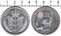 Изображение Монеты Ниуэ 50 долларов 1987 Серебро Proof- Борис Беккер