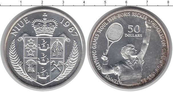 Картинка Монеты Ниуэ 50 долларов Серебро 1987