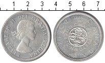 Изображение Монеты Канада 1 доллар 1964 Серебро XF 100-летие Шарлоттаун
