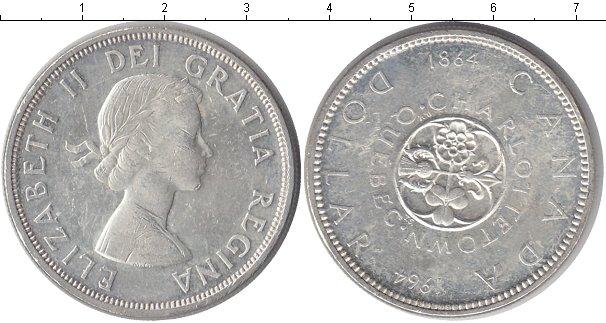 Картинка Монеты Канада 1 доллар Серебро 1964