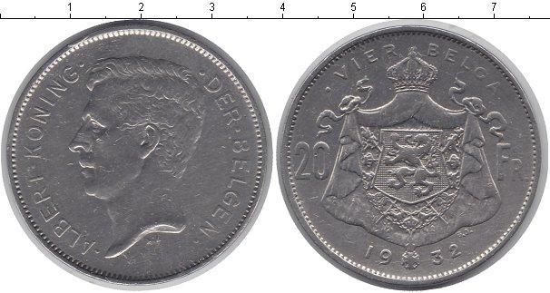 Картинка Монеты Бельгия 20 франков Серебро 1932