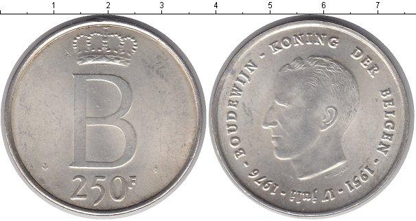 Картинка Монеты Бельгия 250 франков Серебро 1976