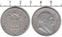Изображение Монеты Баден 2 марки 1907 Серебро VF Фридрих