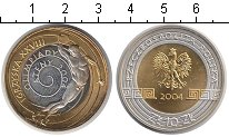 Изображение Монеты Польша 10 злотых 2004 Биметалл UNC- XXVIII Олимпиада