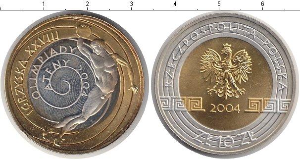 Картинка Монеты Польша 10 злотых Биметалл 2004