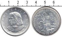 Изображение Монеты Италия 500 лир 1992 Серебро UNC 500 лет со дня смерт