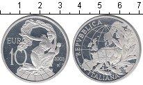 Изображение Монеты Италия 10 евро 2003 Серебро Proof Европа для народа