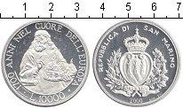 Изображение Монеты Сан-Марино 10.000 лир 2000 Серебро Proof-