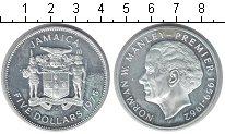 Изображение Монеты Ямайка 5 долларов 1975 Серебро Proof- Норман Манлей