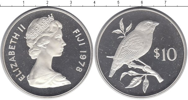 Картинка Монеты Фиджи 10 долларов Серебро 1978
