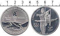 Изображение Монеты США 1 доллар 1995 Серебро Proof- Атланта 95