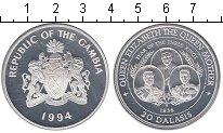 Изображение Монеты Гамбия 20 даласи 1994 Серебро