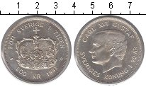 Изображение Монеты Швеция 200 крон 1993 Серебро UNC- Карл XVI Густав