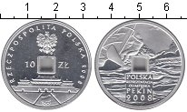 Изображение Монеты Польша 10 злотых 2008 Серебро Proof- Пекин 2008