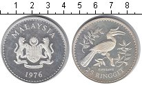 Изображение Монеты Малайзия 25 рингит 1976 Серебро Proof-