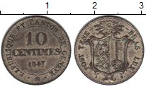 Изображение Монеты Женева 10 сентим 1847 Серебро VF