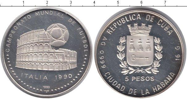 Картинка Монеты Куба 5 песо Серебро 1989