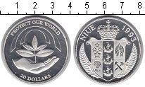 Изображение Монеты Ниуэ 20 долларов 1993 Серебро  Росток
